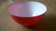 Red plastic mixing bowl (Code 2158)
